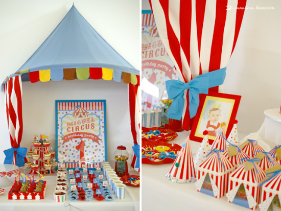 circus party decoration ideas for dessert