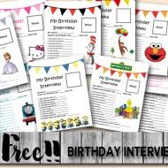 Free Birthday Interview