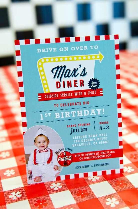 50's Diner Soda Shop Party ideas