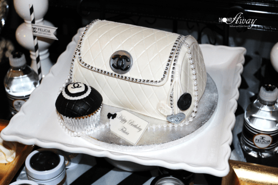 Fabulous and Classy Coco Chanel Party cake