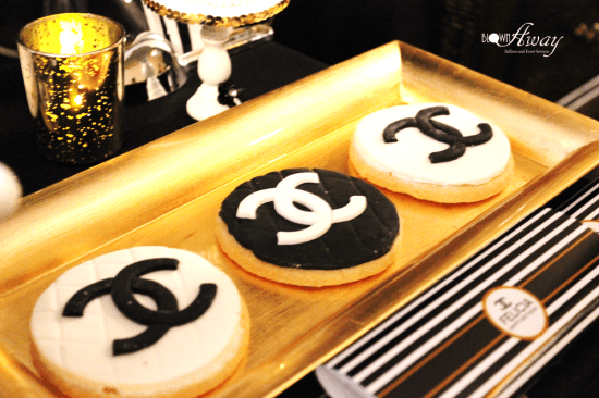 Fabulous and Classy Coco Chanel Party cookies with chanel logo