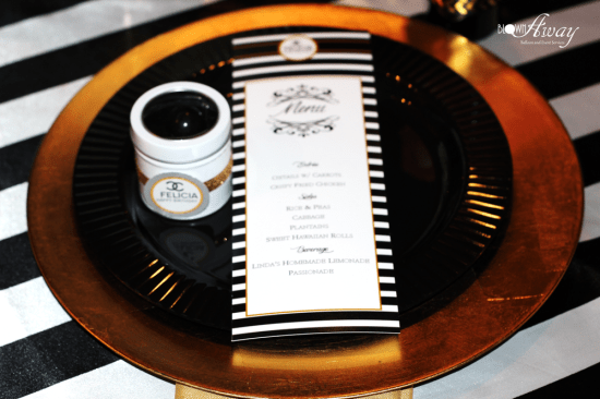 Fabulous and Classy Coco Chanel Party menu