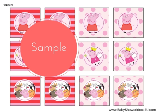 FREE_peppa-pig-party-printable cupcake toppers