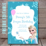 free-editable-elsa-frozen-birthday-invitation