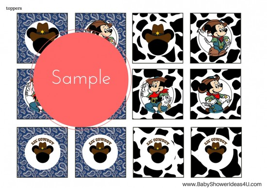 FREE_Cowboy-little-mickey-mouse-printable A4 toppers