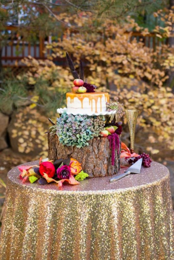 Colorful-Autumn-Outdoor-Party-Cake