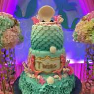 Twins-Under-the-Sea-Mermaid-Birthday-Party-Cake