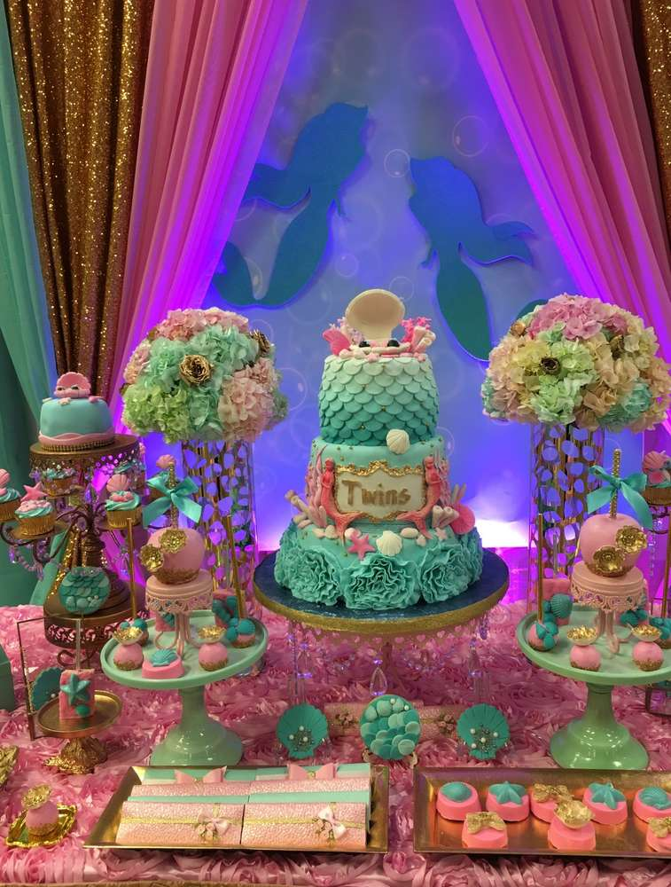twins under the sea mermaid party birthday party ideas shops