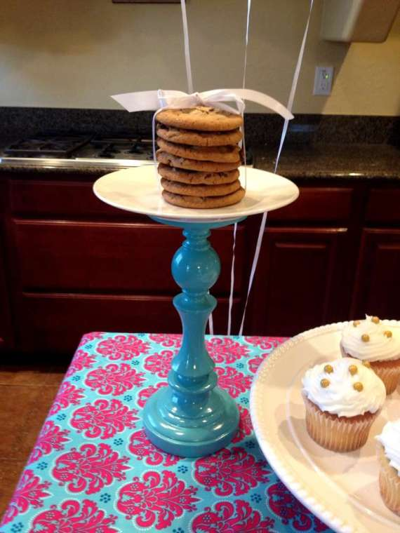 Glittering-Spa-Birthday-Party-Cookie-Tower