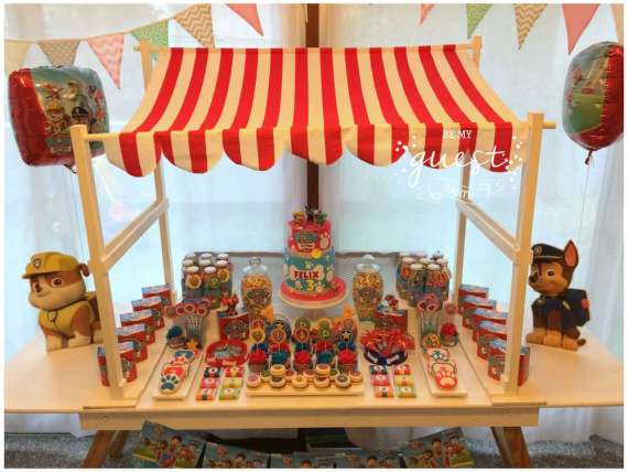 Colorful-Paw-Patrol-Birthday-Party-Dessert-Stand
