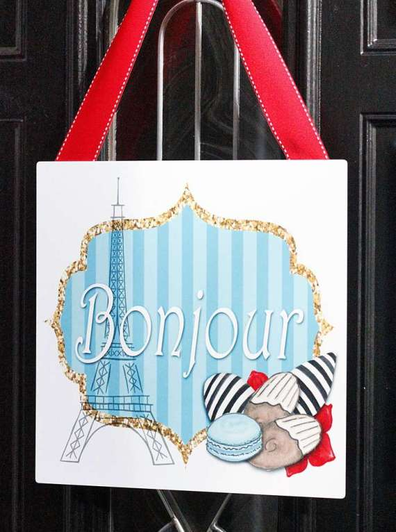 Posh-Parisian-Puppy-Party-Bonjour-Sign