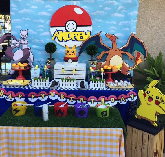Classic-Pokemon-Go-Birthday-Snack-Table