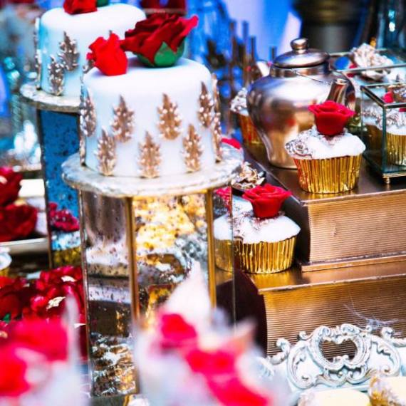 Golden-Beauty-And-The-Beast-Birthday-Cakes