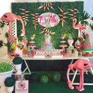 Tropical-Safari-Flamingo -Party-Dessert-Table