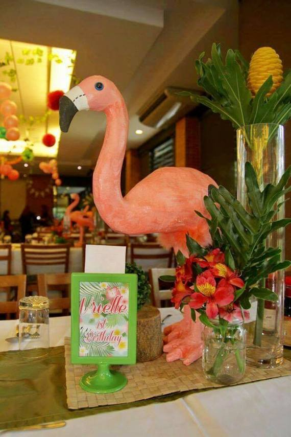 Tropical-Safari-Flamingo -Party-Framed-Art