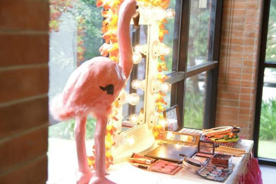 Tropical-Safari-Flamingo -Party-Makeup-Station