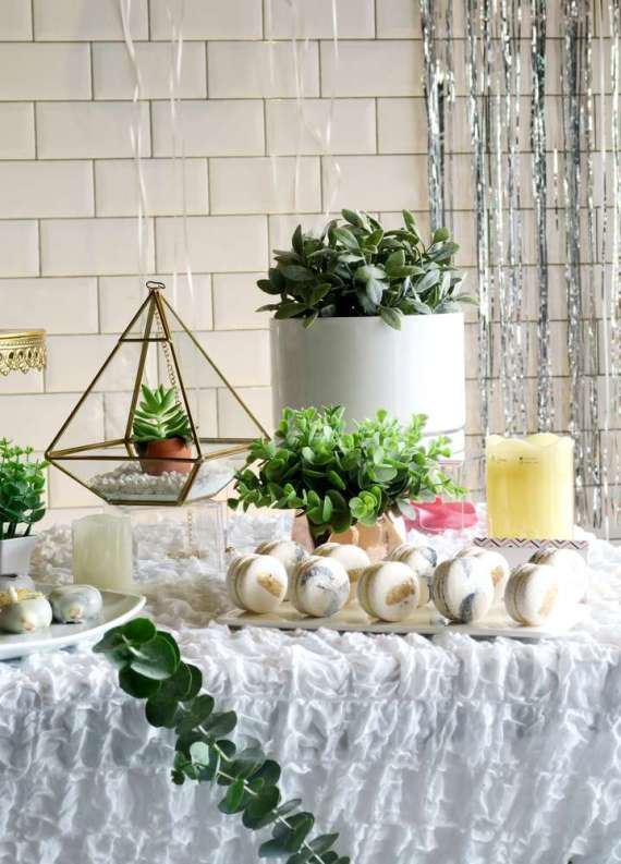 Whimsical-Marble-Birthday-Party-Plant-Decor