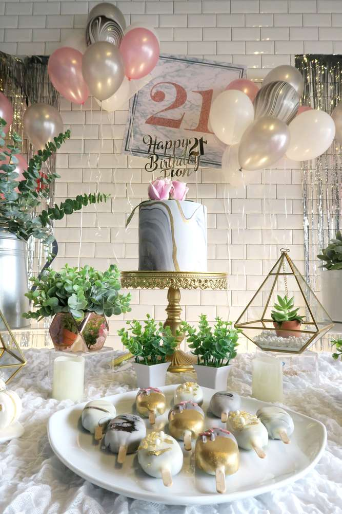 Whimsical Marble Birthday Party - Birthday Party Ideas ...