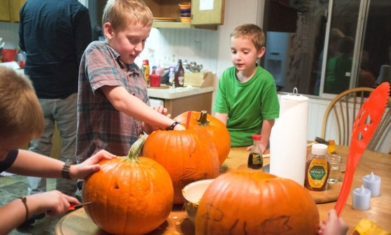 pumpkin carving for kids activity