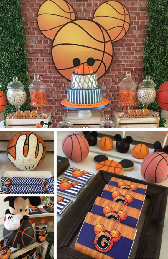 Mickey Basketball Party