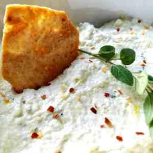 Htipiti (Greek Feta Dip) || Biscuits & Burlap