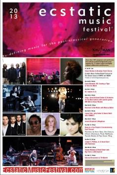 Ecstatic Music Festival Poster, 2013