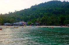 Früh am Morgen in der Coral Bay.