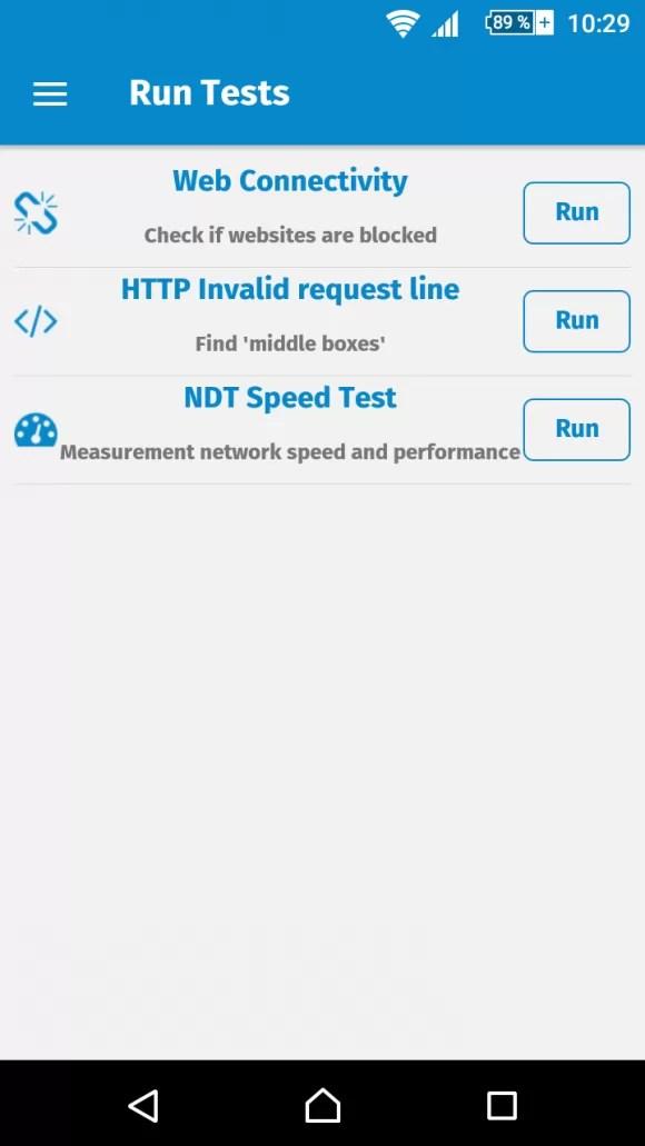 Verfügbare Tests