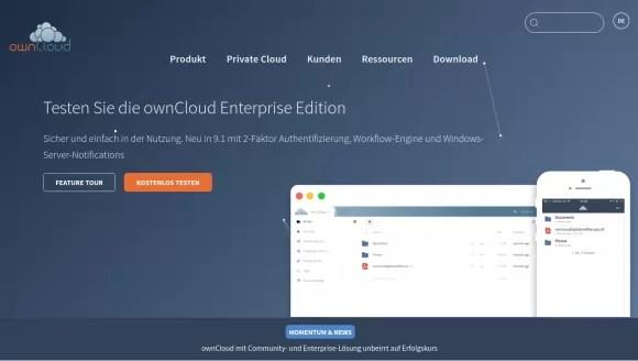 Die neue Website der ownCloud