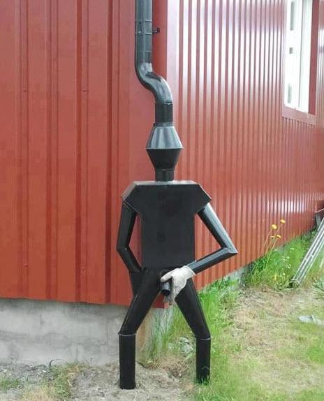 Downspout art