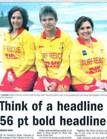 Think of a headline headline