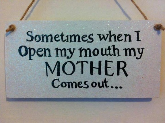 Sometimes when I open my mouth