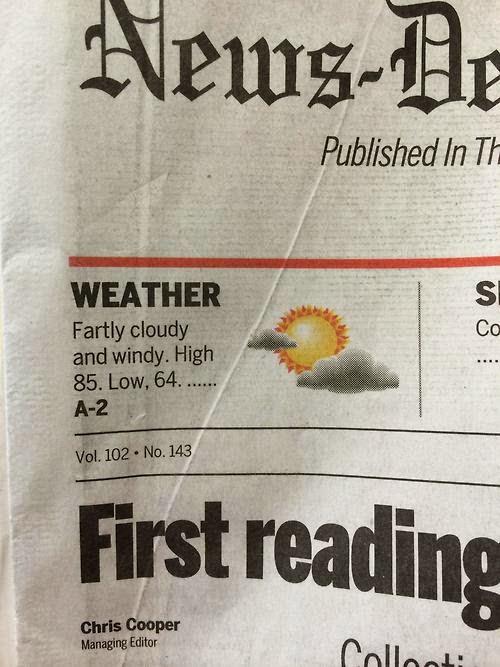 Windy forecast