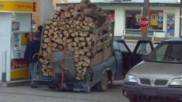 Truckload of firewood