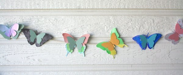 Crafting with Kids : Butterfly Garland