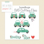 Love Bugs Valentine SVG files