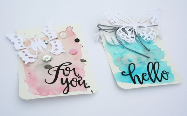 Butterfly Cut Files and Watercolor Tags