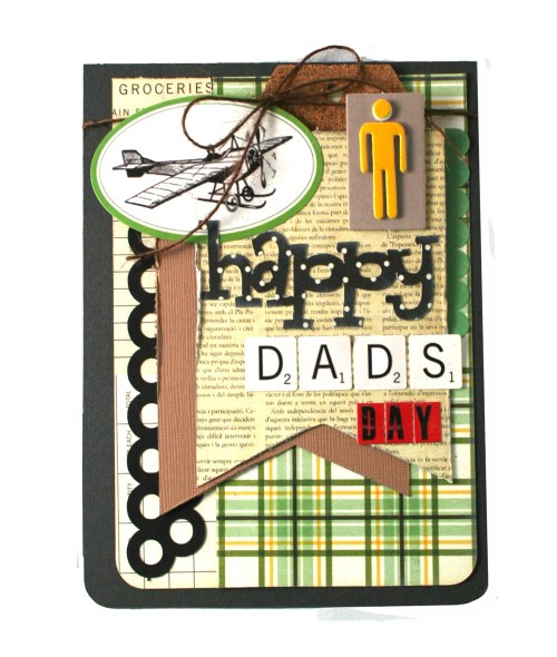 Masculine Dad's Day Card Sketch