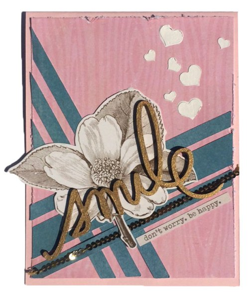 Handmade card with card sketch cut file