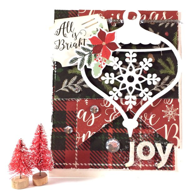 Christmas Ornament Scene Cards with My Minds Eye Comfort and Joy