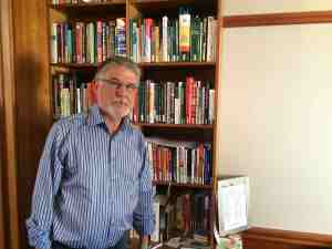 Jannie Mouton (68) keeps his favourite books in his office for easy reference.