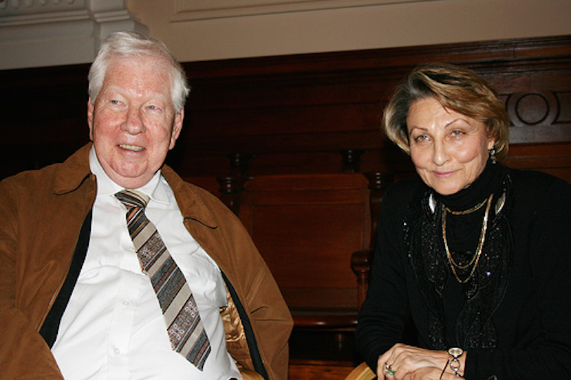 RW Johnson with fellow author and historian, Irina Filatova