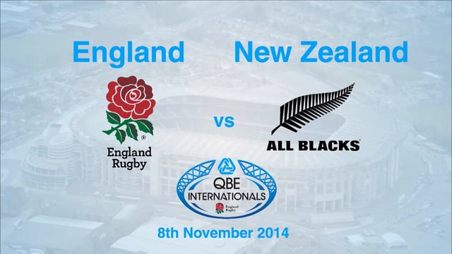 QBE broadcast of England vs New Zealand 2014