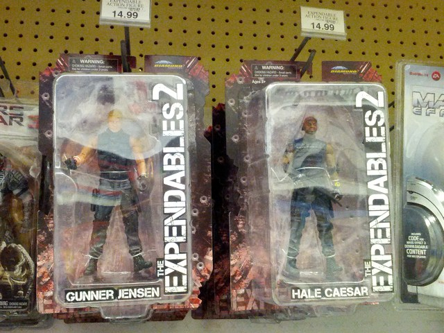 Expendables at Toys R Us