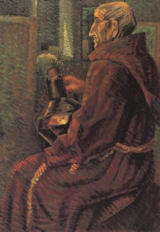 Seated Monk 1925 Salvador Dali – Poster Canvas Art print A4 A3 A2 A1 ...