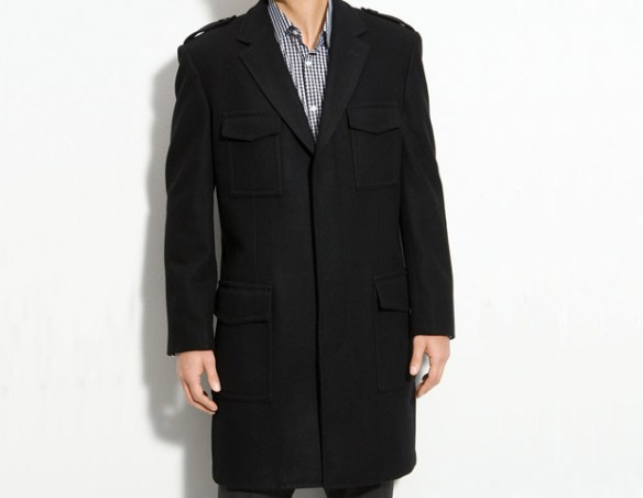Ben Sherman Topcoat, $395   Ben Sherman's military-inspired topcoat is versatile thanks to its shoulder epaulettes. This is a coat you can dress up with a suit or just as easily dress sown with a pair of jeans and a sweater.