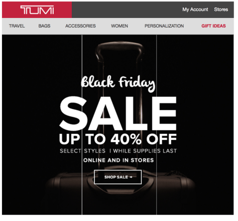 Tumi black friday ad scan - page 1