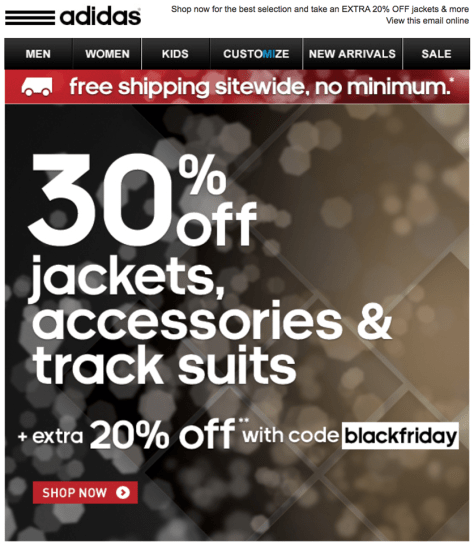 adidas come black friday ad scan - page 1