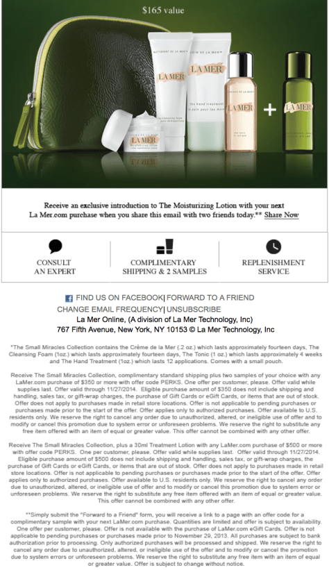 La Mer black friday ad scan - page 2