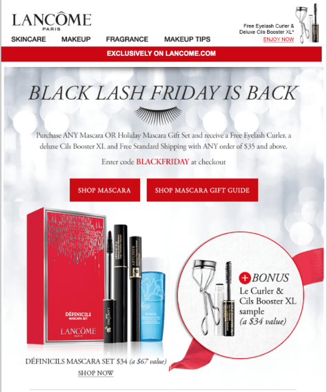 Lancome black friday ad scan - page 1